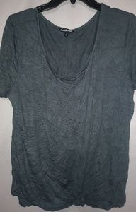 Charlotte Russe Black Soft Scoop Neck Top 1X Plus